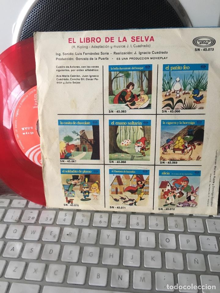 Discos de vinilo: EL LIBRO DE LA SELVA-1971-VINILO ROJO - Foto 2 - 121315459