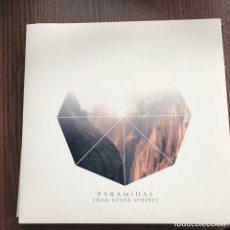 Discos de vinilo: PYRAMIDAL - FROM OTHER SPHERES / SABBRA ARABIA - LP KRAUTED MIND 2017 NUEVO - VINILO ROJO. Lote 121324591