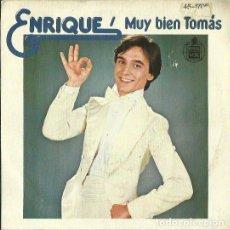 Discos de vinilo: ENRIQUE. SINGLE. SELLO HISPAVOX. EDITADO EN ESPAÑA. AÑO 1978. Lote 121335079