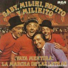 Discos de vinilo: GABY, MILIKI, FOFITO Y MILIKITO. SINGLE PROMOCIONAL. SELLO RCA VICTOR. EDITADO EN ESPAÑA. AÑO 1980. Lote 121335291
