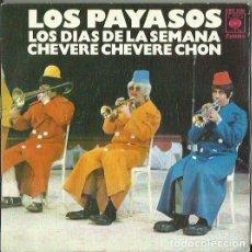 Discos de vinilo: LOS PAYASOS. SINGLE. SELLO CBS. EDITADO EN ESPAÑA. AÑO 1974. Lote 121335479