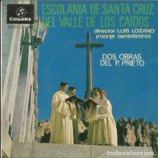 Discos de vinilo: ESCOLANIA DE SANTA CRUZ DEL VALLE DE LOS CAIDOS. EP. SELLO COLUMBIA. EDITADO EN ESPAÑA. AÑO 1967. Lote 121339159