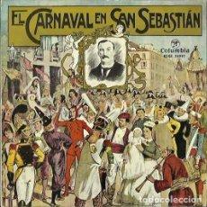 Discos de vinilo: EL CARNAVAL EN SAN SEBASTIAN. EP. SELLO COLUMBIA. EDITADO EN ESPAÑA. AÑO 1959. Lote 121339667