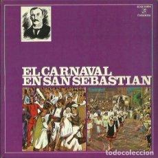 Discos de vinilo: EL CARNAVAL EN SAN SEBASTIAN. EP. SELLO COLUMBIA. EDITADO EN ESPAÑA. AÑO 1959. Lote 121339915