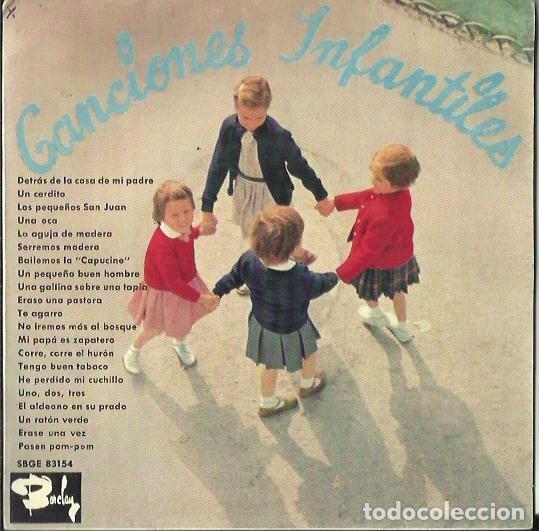 CANCIONES INFANTILES. EP. SELLO BARCLAY. EDITADO EN ESPAÑA. AÑO 1964 (Música - Discos de Vinilo - EPs - Música Infantil)