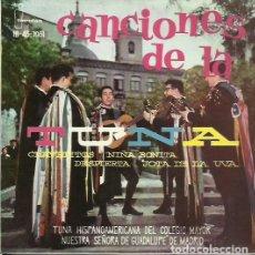 Discos de vinilo: TUNA COLEGIO MAYOR NTRA SEÑORA DE GUADALUPE(MADRID). EP. SELLO IBEROFON. EDITADO EN ESPAÑA. AÑO 1961. Lote 121342631