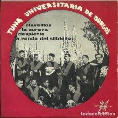 Discos de vinilo: TUNA UNIVERSITARIA DE BURGOS. EP. SELLO MARFER. EDITADO EN ESPAÑA. AÑO 1964. Lote 121342747