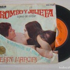Discos de vinilo: HENRY MANCINI Y SU ORQUESTA - TEMA DE AMOR DE ROMEO Y JULIETA - SINGLE 1969 - RCA. Lote 121351735