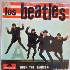 Discos de vinilo: LOS BEATLES – WHEN THE SAINTS – EP – ED. ESPAÑOLA 1964 THE BEATLES CON TONY SHERIDAN.. Lote 121352039