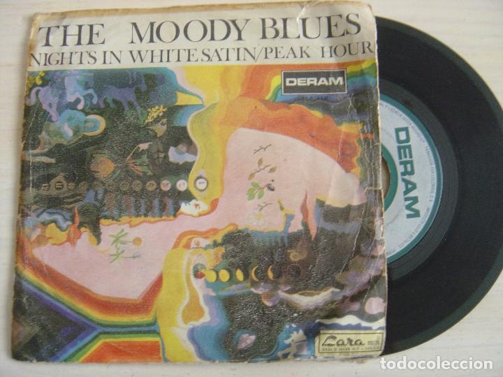 THE MOODY BLUES - NIGHTS IN WHITE SATIN + PEAK HOUR - SINGLE ESPAÑOL 1967 -  DERAM