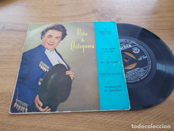 NIÑA DE ANTEQUERA. MARIA ROSA DE LEON. AY, MI PERRO. LLEGÓ EL FLORERO, VILLANCICOS DE CALAÑAS (Música - Discos de Vinilo - EPs - Flamenco, Canción española y Cuplé)
