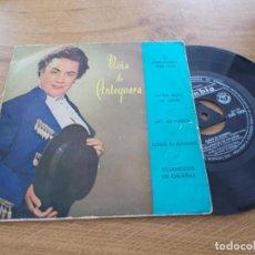 Discos de vinilo: NIÑA DE ANTEQUERA. MARIA ROSA DE LEON. AY, MI PERRO. LLEGÓ EL FLORERO, VILLANCICOS DE CALAÑAS. Lote 121361567