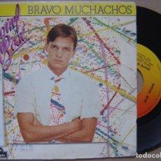 Discos de vinilo: MIGUEL BOSE - BRAVO MUCHACHOS - SINGLE 1982 - CBS. Lote 121366943