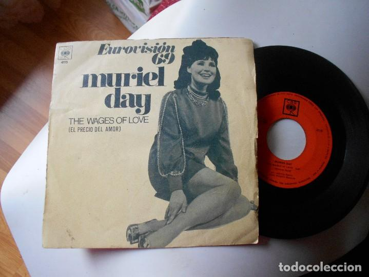 MURIEL DAY-SINGLE THE WAGES OF LOVE-EUROVISION 69 (Música - Discos - Singles Vinilo - Festival de Eurovisión)
