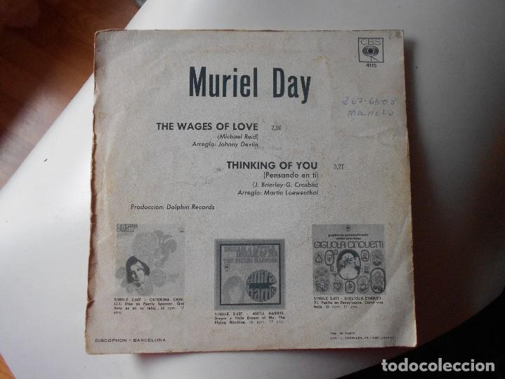 Discos de vinilo: MURIEL DAY-SINGLE THE WAGES OF LOVE-EUROVISION 69 - Foto 2 - 121370167