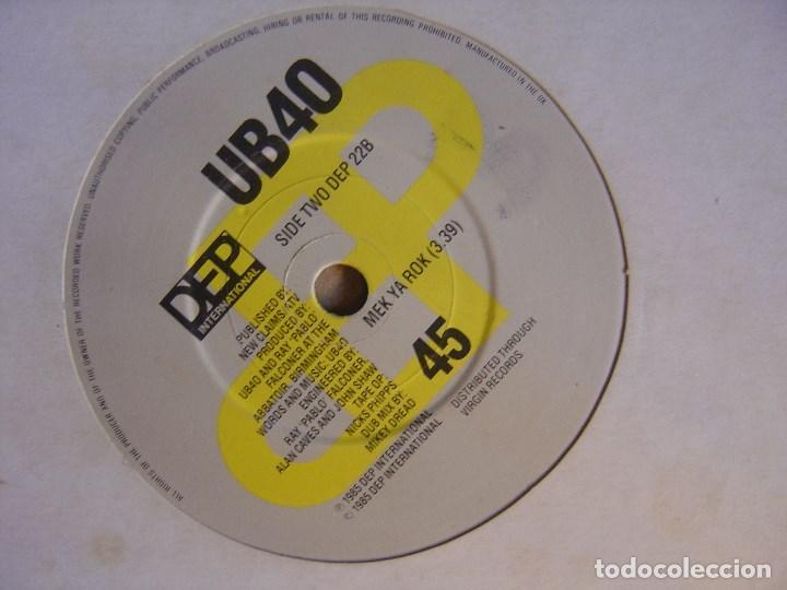 UB40 - MEK YA ROK + DON´T BREAK MY HEART - SINGLE UK 1985 - DEP (Música - Discos - Singles Vinilo - Reggae - Ska)