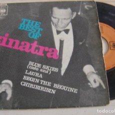 Discos de vinilo: THE BEST OF SINATRA - BLUES SKIES + LAURA + BEGIN THE...- EP ESPAÑOL 1966 - CBS. Lote 121379907