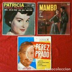 Discos de vinilo: LOTE PEREZ PRADO (3 EPS) EL MAMBO DE PEREZ PRADO Y SU ORQUESTA. Lote 121386167