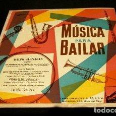 Discos de vinilo: RALPH FLANAGAN (EP. AÑOS 50) MUSICA PARA BAILAR (FILM: UN AMERICANO EN PARIS) -DISCO DIFICIL- JAZZ. Lote 121388179