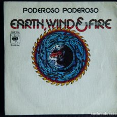 Discos de vinilo: EARTH, WIND & FIRE / MIGHTY ,MIGHTY. / DRUM SONG. . Lote 121421995