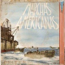 Discos de vinilo: VENDO SINGLE DE MARCHAS AMERICANAS (MAS INFORMACIÓN EN 2ª FOTO EN EL INTERIOR).. Lote 121430519