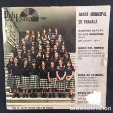 Discos de vinilo: BANDA MUNICIPAL DE GRANADA - CORO DEL COLEGIO SAGRADA FAMILIA - 1982. Lote 121436415