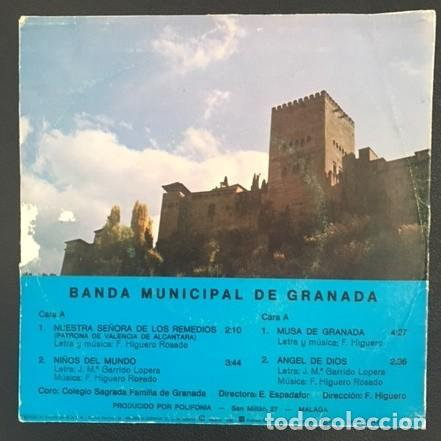 Discos de vinilo: BANDA MUNICIPAL DE GRANADA - CORO DEL COLEGIO SAGRADA FAMILIA - 1982 - Foto 2 - 121436415