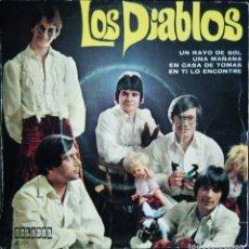 Discos de vinilo: LOS DIABLOS / UN RAYO DE SOL. -UNA MAÑANA. -EN CASA DE TOMAS. -EN TI LO ENCONTRE.. Lote 121437339