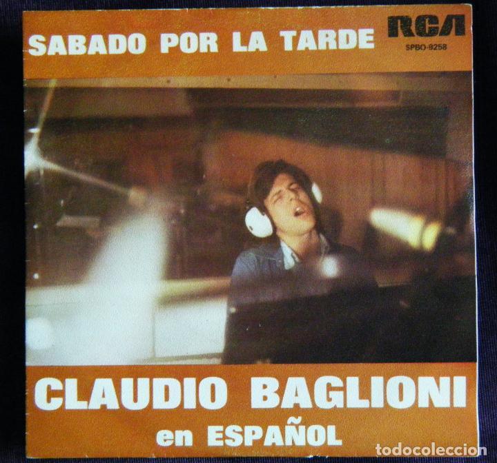 CLAUDIO BAGLIONI / SABADO POR LA TARDE. - POSTER. (Música - Discos - Singles Vinilo - Cantautores Internacionales)