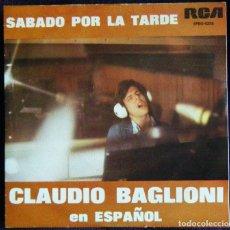 Dischi in vinile: CLAUDIO BAGLIONI / SABADO POR LA TARDE. - POSTER.. Lote 121438303
