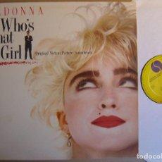 Discos de vinilo: MADONNA WHO´S THAT GIRL - LP ESPAÑOL 1987 - SIRE. Lote 121445895