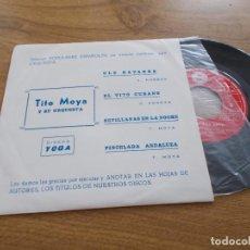 Discos de vinilo: TITO MOYA. OLE NAVARRA, EL VITO CUBANO, SEVILLANAS EN LA NOCHE, PINCELADA ANDALUZA.. Lote 121448799