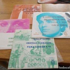 Discos de vinilo: LOTE DE ORQUESTA FANTASIA Y NARBO. 4 EPS, AL CORRER EN EL ENCIERRO, POR COMPASION, UN PITO, DA PENA. Lote 121449067