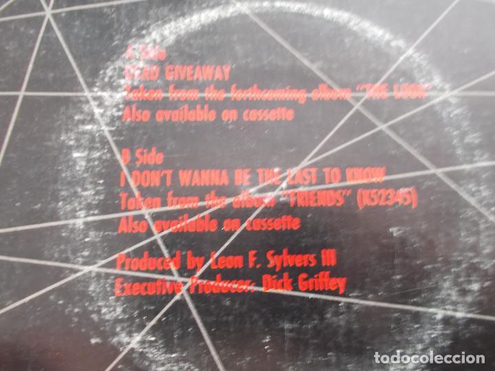 Discos de vinilo: SHALAMAR. DEAD GIVEAWAY. - Foto 3 - 121450215