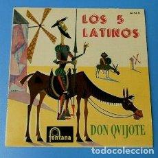 Discos de vinilo: LOS 5 LATINOS (EP. 1960) (NUEVO) DON QUIJOTE - ROGAR Y 2 MAS - CON LUCIO Y SU CONJUNTO. Lote 121454315