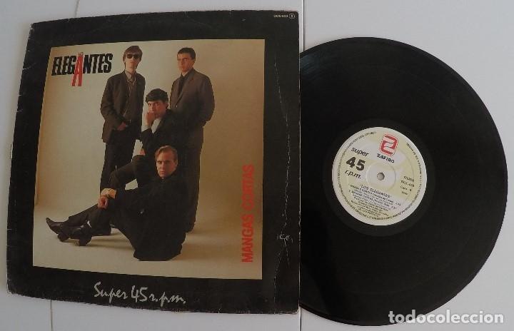 LOS ELEGANTES - MANGAS CORTAS (MAXI-SINGLE) (Música - Discos de Vinilo - Maxi Singles - Grupos Españoles de los 70 y 80)