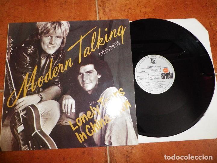 MODERN TALKING LONELY TEARS IN CHINATOWN - GIVE ME PEACE ON EARTH MAXI SINGLE VINILO AÑO 1987 RARO (Música - Discos de Vinilo - Maxi Singles - Pop - Rock - New Wave Internacional de los 80)