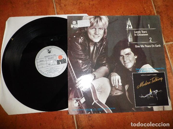 Discos de vinilo: MODERN TALKING Lonely tears in chinatown - Give me peace on earth MAXI SINGLE VINILO AÑO 1987 RARO - Foto 2 - 121471047