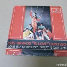 Discos de vinilo: LOS BRAVOS (SN) LOVE IS A SYMPHONY AÑO 1968. Lote 121482235
