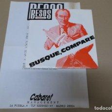 Discos de vinilo: BESOS RABIOSOS (SN) BUSQUE, COMPARE AÑO 1987 – HOJA CON LETRAS. Lote 121483239