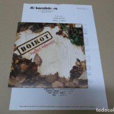 Discos de vinilo: BOIKOT (SN) SUEÑOS ENFERMOS AÑO 1992 – PROMOCIONAL + HOJA PROMO. Lote 121483879