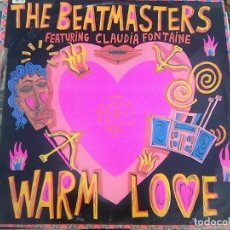 Discos de vinilo: BEATMASTERS, THE & CLAUDIA FONTAINE - WARM LOVE (DRO, 1989). Lote 121497107