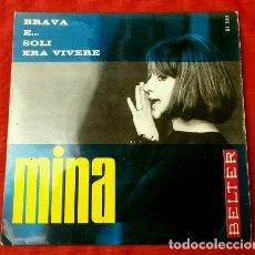 Discos de vinilo: MINA (EP. 1965) (NUEVO) BRAVA - SOLI - ERA VIVERE - E .... Lote 121534931