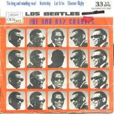 Discos de vinilo: RAY CHARLES (LOS BEATLES QUE AMO RAY CHARLES) / YESTEERDAY + 3 (EP 33 RPM PROMO 1980). Lote 121539555
