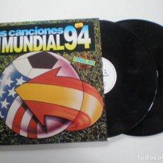 Discos de vinilo: LAS CANCIONES DEL MUNDIAL 94 - DOBLE LP BLANCO Y NEGRO 1994 . Lote 121539715