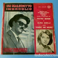 Discos de vinilo: UN MALEDETTO IMBROGLIO (SINGLE 1961 A 33 RPM) ALIDA CHELLI - BSO UN MALDITO EMBROLLO - PIETRO GERMI. Lote 121541615