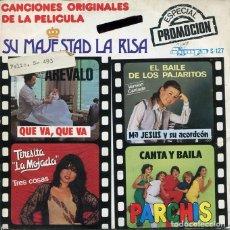 Discos de vinilo: SU MAJESTAD LA RISA (CANCIONES DE LA PELICULA) VARIOS (EP PROMO 1981). Lote 121543543