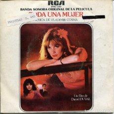 Discos de vinilo: TODA UNA MUJER (BSO) VLADIMIR COSMA) / LA DEROBADE / LE MANIAQUE (SINGLE PROMO 1979). Lote 121544051