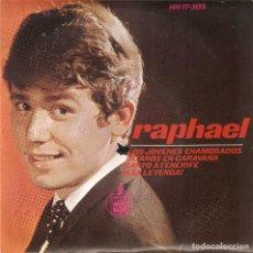 Discos de vinilo: VENDO SINGLE DE RAPHAEL, AÑO 1965 (MAS INFORMACIÓN EN 2ª FOTO EN EL INTERIOR).. Lote 121565459
