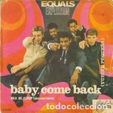 Discos de vinilo: THE EQUALS - BABY, COME BACK = VUELVE PEQUEÑA (SINGLE) . Lote 121568211